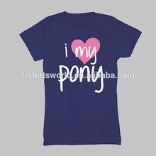 Custom wholesale 60% cotton 40% polyester children girl tshirt