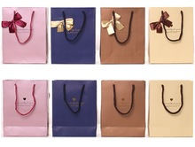 oker brand customized drawstring promotional shopping paper bag