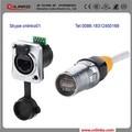 hecho en china cnlinko ip67 a prueba de agua de la red de cable de extensión rj45 acoplador conector cat6 multi puerto rj45 conector