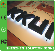 Custom outdoor Stainless steel led backlit signs, Outdoors Illuminated Channel Letters