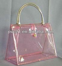 Customeized Plastic handle Bags Colorful PVC Handle Bag Clear Plastic Bags with Handle