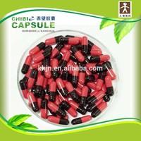 Red Black Packing material / Medicinal Halal capsule / empty gelatin capsule for Herbal medicine