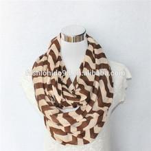 jersey cotton knitted chevron scarf pattern,cachecol,bufanda infinito,bufanda by Linked Fashion