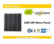Photovoltaic 35W Mono Osda Solar Panel price per watt solar panels
