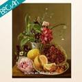 ainda vida de flores e frutas retrato da pintura a óleo