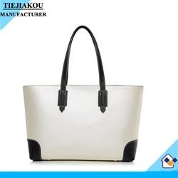 hot sale PU leather office women handbag lady tote bag wholesale
