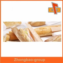 plastic lined paper bags with clear window for baguette,french bread,fried food