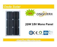 Photovoltaic 20W Mono Osda Solar Panel price per watt solar panels