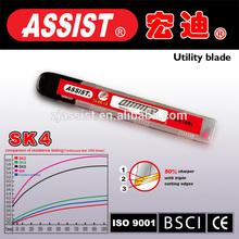 Easy cut off durable razor blade hot selling 9mm SK4 cutter blade steel sliding knife blades