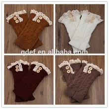 Woman and girls leg socks ,wool knit christmas leg warmers,lace leg warmer wholesale