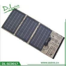 Outdoor Travel External Power Bank 30w 1.7a solar phone charger no battery