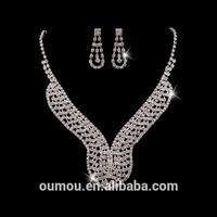 Latest Fashion Rhinestone Arabic Bridal Jewelry Set For Wedding Dress