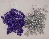 Make Ribbon Bow Matte Metallic Ribbon Bow / Colorful & Popular Ribbon Curly Bow