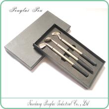 Executive Golf set pen in Metal with Gift Box, Golf ball pen set
