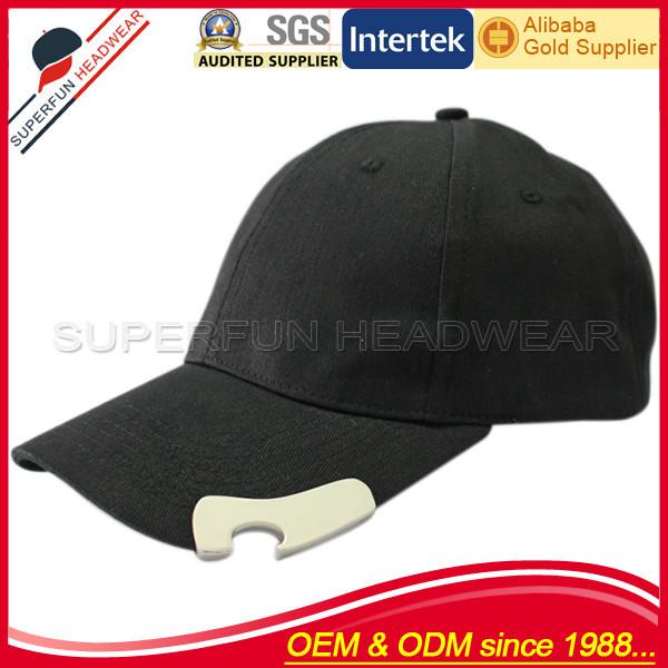 algodão preto duff homem cerveja abridor de garrafa de chapéu