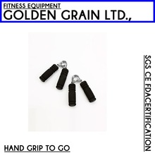 black strength training gym foam hand grip