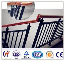 Modern rustproof cheap steel fancy wooden stair railing