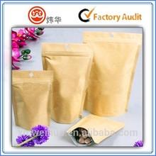 kraft paper bag with zipper packaging tea coffee bag wholesale