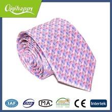 Pink dot wonderful hand made skinny necktie match woman shirt