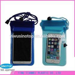 hot sell outdoor beach bean pvc waterproof bag for phone