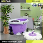 Stainless Steel Basket Telescopic Microfiber Spin Go Mop
