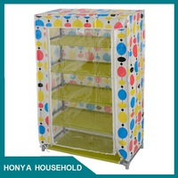2015 new beautiful design shoe cabinet with mirror