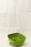 hanging baskets wholesale Plastic hanging flower pot & Garden hanging flower pot