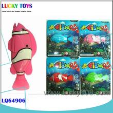 Nuevos productos peces de vinilo venta al por mayor eléctrica de natación pez robot de juguete con luz