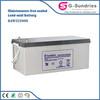 High quality CE ROHS solar dc ac 50hz 2kw 12v 100ah lead acid solar battery/ storage battery