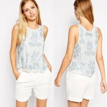 Blank crop tops wholesale cheap sleeveless tops tank top for women