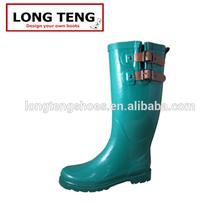 cheap rubber rain boots wholesale flower green color