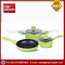 New Custom Design 5pcs Aluminum Non-stick Parini Cookware Set