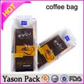 Caliente yason nescafe sobres de café de gran capacidad para café/bolsa de té negro mate bolsa de café envasado con estampado en caliente