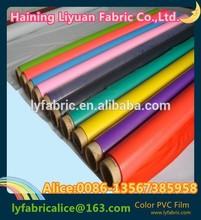 Soft color pvc film for raincoat