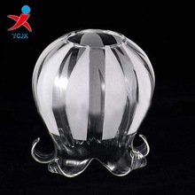 glass shade with flower shape