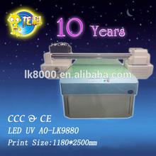 LED UV Flatbed Printer impresso wood printer glass crystal, ABS, acrylic, metal, stone,leather, cotton meter printer LED UV A0