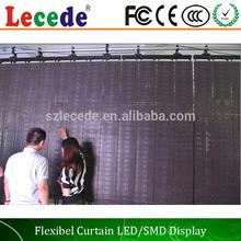 2014 China flexible video curtain screen led curtain