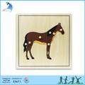 Montessori de madeira materiais, brinquedos educativos de madeira, montessoriparts de um cavalo de quebra-cabeça