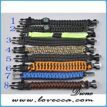 survival kit type paracord bracelet lanyard