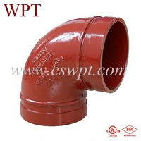 fm/ul di grooved fittings Fire protection wpt coupling wpt grooved fittings weifang grooved fittings grooved flange fm