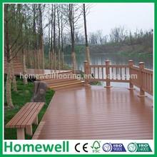 naturale legno sintetico lungomare di plastica piattaforma composita