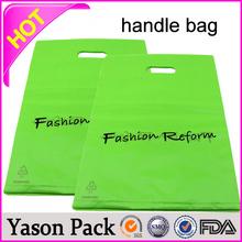 Yason pvc gift handle bag plastic soft loop handle bags hdpe flexible loop handle bag