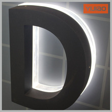 High brightness Backlit acrylic with metal stainless steel sign letters