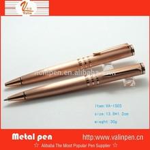 High range metal rose gold pen