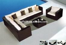 2015 spanish relaxing outdoor & indoor dark wicker furniture sofa set