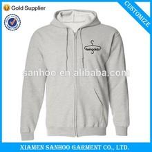 Fashion Unisex Zip Hooded Sweatshirt Wholesale Plain For Custom Printing