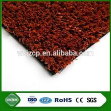Red artificial grass for tennis fields/volleyball flooring
