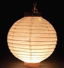 White light up paper lanterns for home decoration
