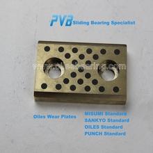 UTW100-125 Graphite inlaid Oiles Plate,JDB-P Solid Bronze Wear Plate,pet preform mould Slide Pads