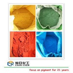 Synthetic pigment powder red,yellow,black green,orange,blue iron oxide supplier from China